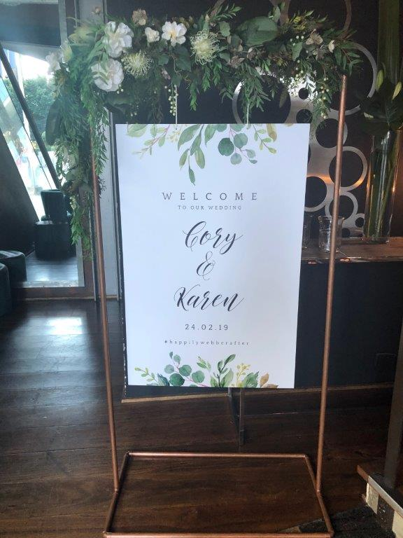 Melbourne Celebrant - All Smiles Docklands - Wedding Signage