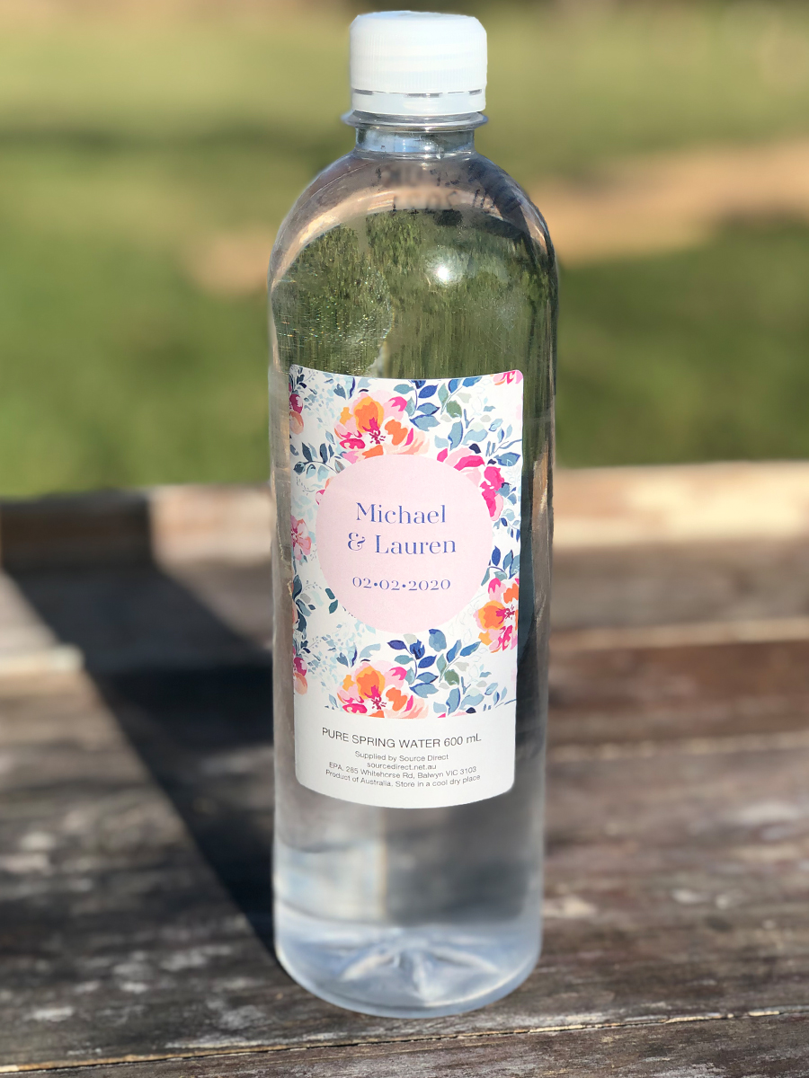 Julie Byrne - Yarra Valley Celebrant - Lauren and Michaels Wedding - Personalised Water