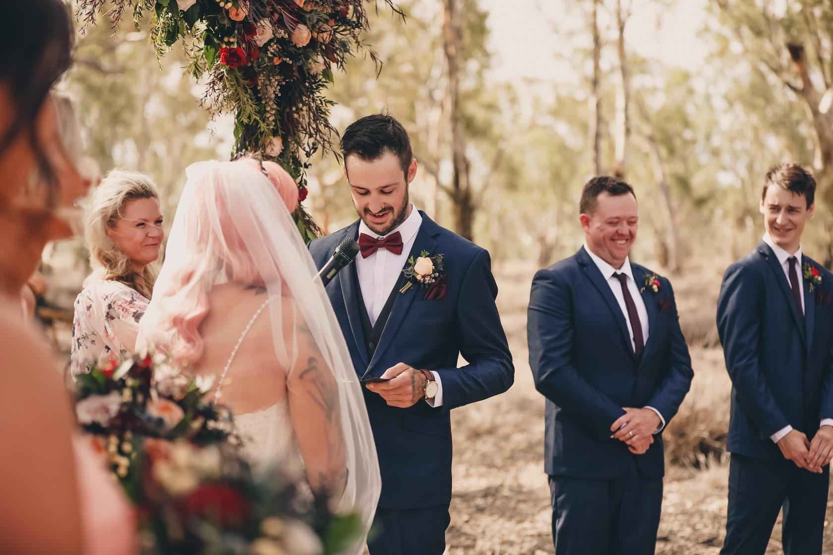DIY Wedding - Lauren and Josh - Julie Byrne Wedding Celebrant