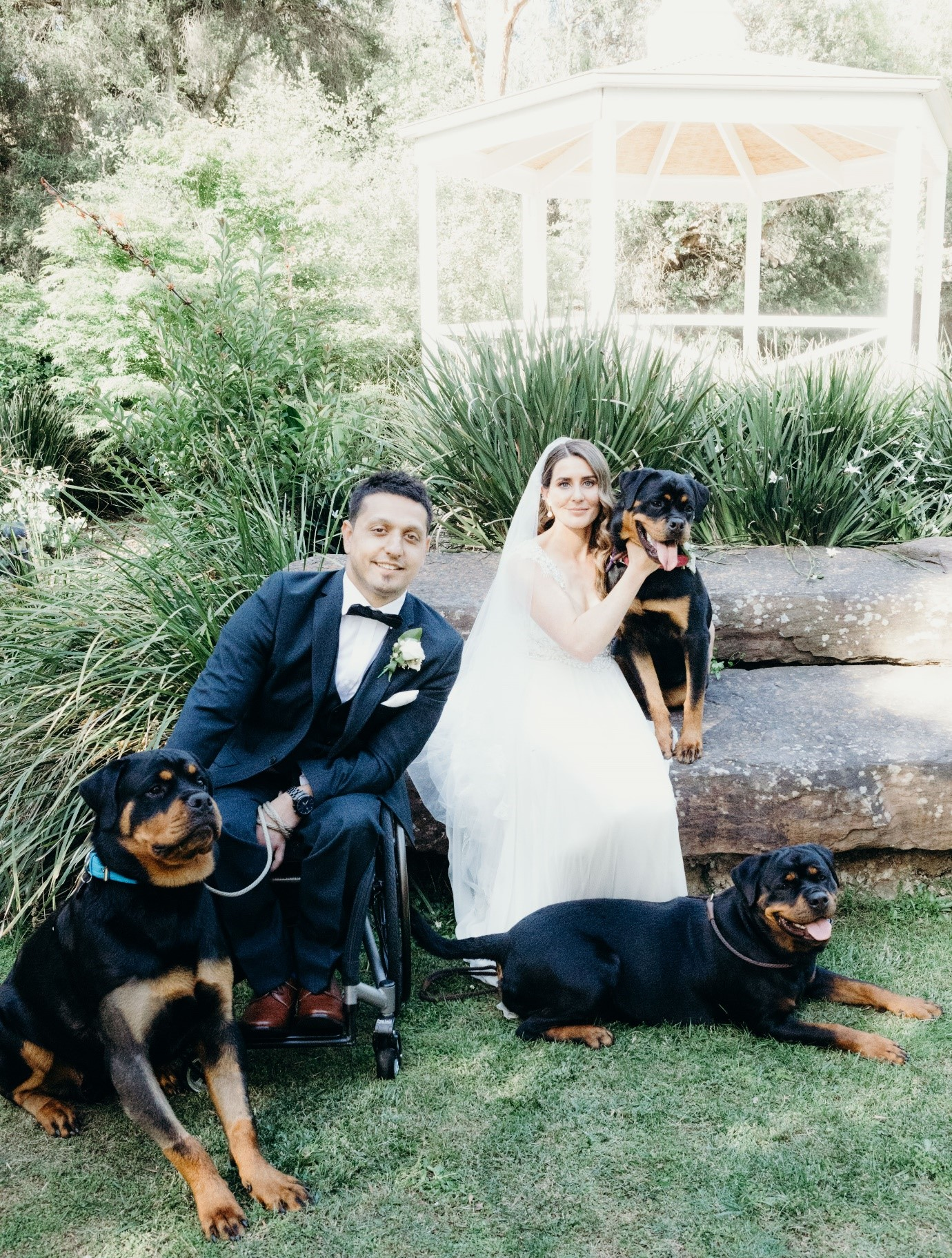 Julie Byrne Celebrant - Potters Reception - Crystal and Kadir's Wedding with their Puppies