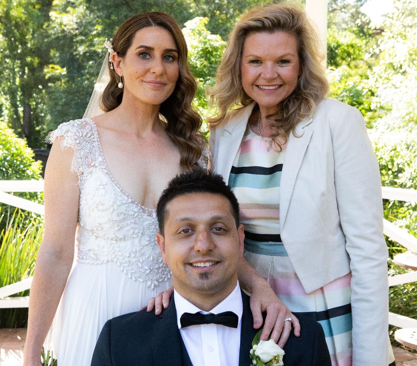 Julie Byrne Celebrant with Crystal and Kadir