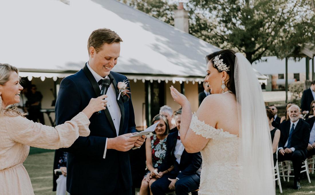 Julie Byrne Flowerdale Wedding Celebrant - Bianca and Andrew's Wedding Ceremony