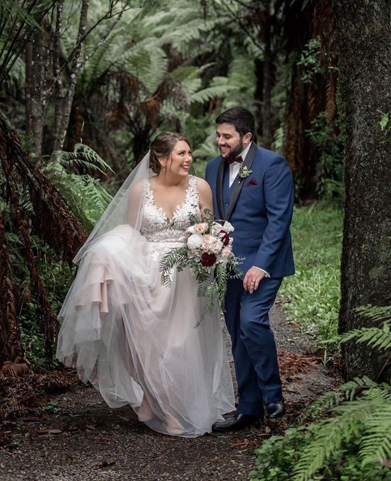 Jazmine and Travis' Wedding at Lyrebird Falls - Julie Byrne Wedding Celebrant